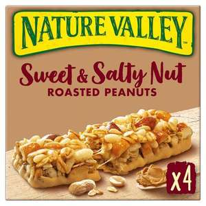 Nature Valley Sweet and Salty Nut Bars - Roasted Peanuts and Dark Chocolate 4 pack - 99p @ Tesco