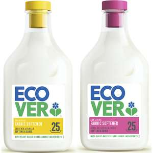 Ecover Fabric softener Apple Blossom & Almond / Gardenia & Vanilla 25W (750ml) - £1.50 (Prime) / +£4.49 Non Prime @ Amazon (or 1.5L for £3)