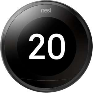 Google Nest Learning Thermostat, 3rd Generation, Black - £150 @ Amazon
