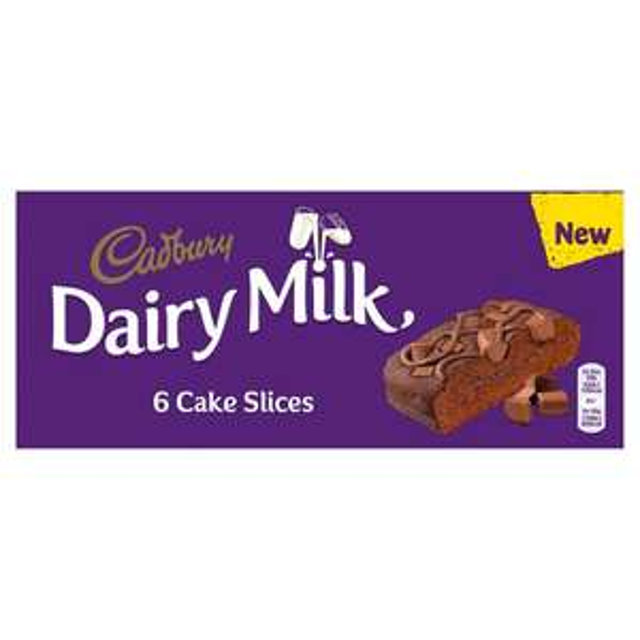 6 x Cadbury Dairy Milk Cake Slices. 69p instore Heron Foods, Bentilee