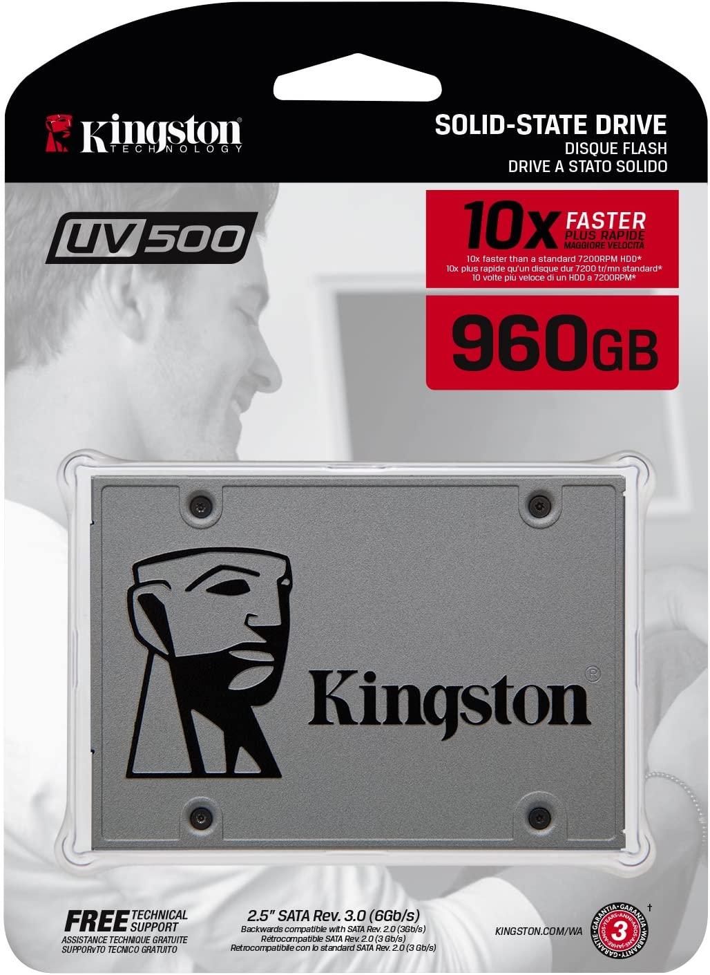 Kingston SUV500/960GB SSD UV500 SATA3 2.5 for £30.97 delivered @ Amazon