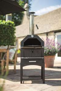 Multifunction Outdoor Oven (BBQ, chrome plate grill and pizza oven) – £99.99 @ Lidl