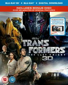 Transformers: The Last Knight 3D (Bonus Disc, Blu-Ray + Digital Download) [Blu-Ray] - £4 delivered @ Zoom / eBay