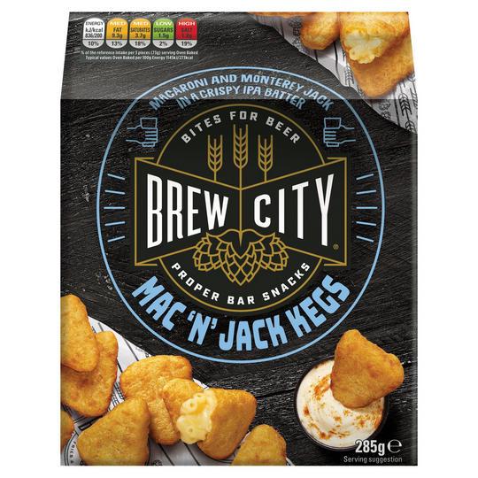 Brew City Mac 'N' Jack Cheese Kegs 285g - £1 @ Iceland