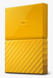 WD 4 TB My Passport Portable Hard Drive (13.8mm) with Password Protection & Auto Backup -Yellow - £71.99 With Code @ Western Digital Shop