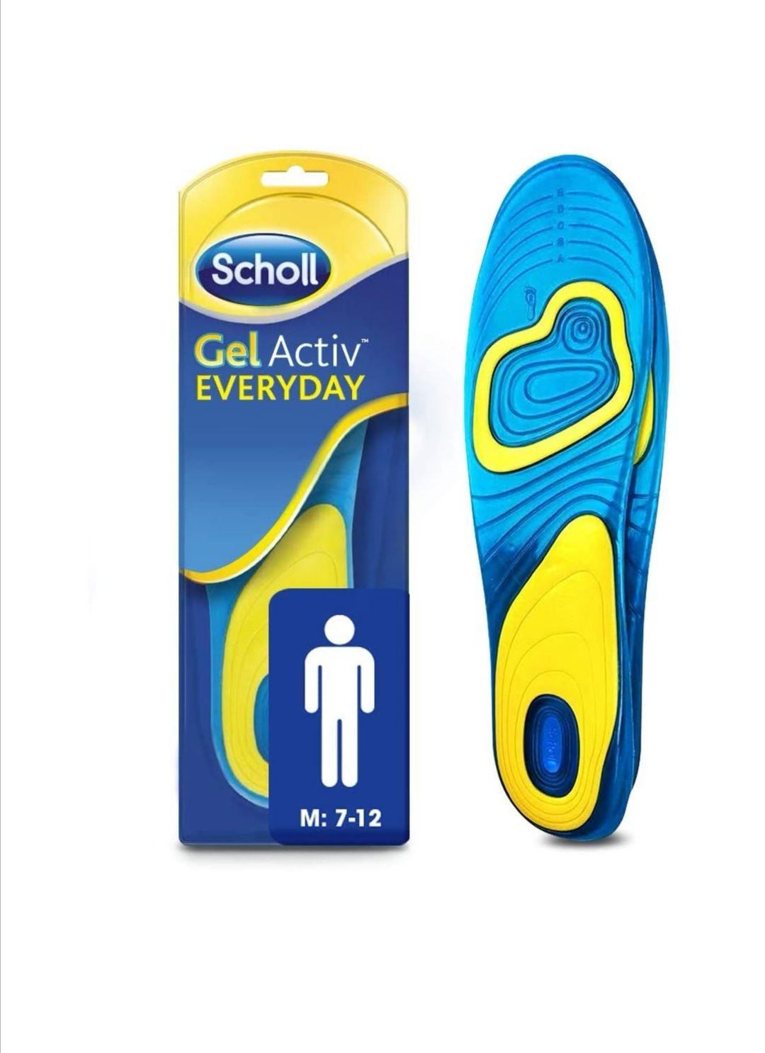 Scholl Men's Gel Activ Everyday Insoles, UK Size 7 to 12 - £8.49 (+£4.49 non-Prime) @ Amazon
