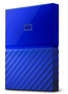 WD My Passport Portable Hard Drive 2TB Blue/Orange/Yellow Colour - £49.49 @ Western Digital Shop