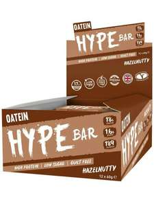 Factory seconds - Oatein 12 X 60g Hype Protein (all flavours) bars £9.50 delivered @ EchoSupplements