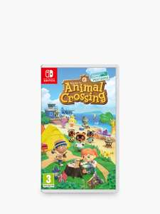 Animal Crossing New Horizons at John Lewis & Partners for £47.50 delivered