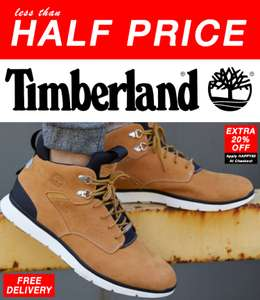 Timberland Boots 50% off rrp plus further 20% off Free Delivery (B Grade) eg Tideland Boots - £51.99 sizes 6.5 up to 12.5 @ Express Trainers