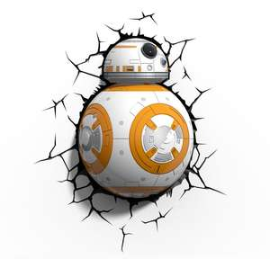 Star Wars BB8 Droid 3D Deco light now £12.15 with code delivery is £3 @ Menkind