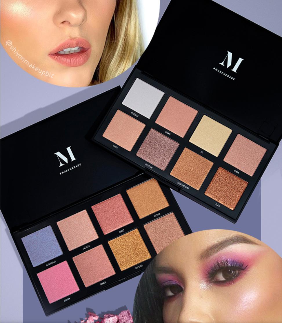 Morphe Highlighter palettes half price get both for £20 delivered @ Morphe