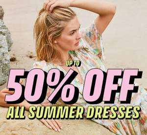 Topshop - up to 50% off all summer dresses
