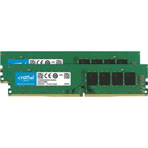 Crucial 8GB x2 2666MHz DDR4 Non-ECC DIMM Desktop Memory - £47.98 + P&P £2.99 @ Laptops Direct