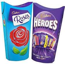 Cadbury Roses & Heroes 290G / Celebrations 240G. £2.00 per Box @ Tesco (Min basket £40 + up to £4 delivery)