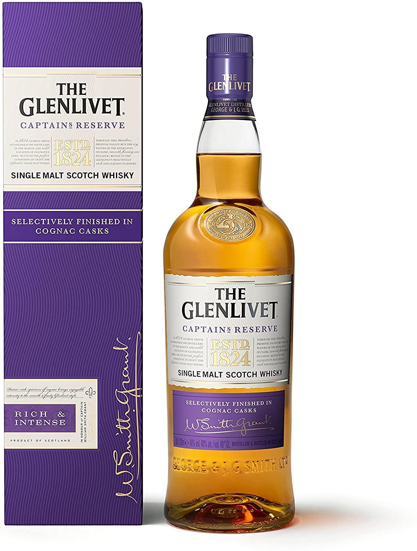 The Glenlivet Captain's Reserve Single Malt Scotch Whisky, 70cl for £35 at Amazon