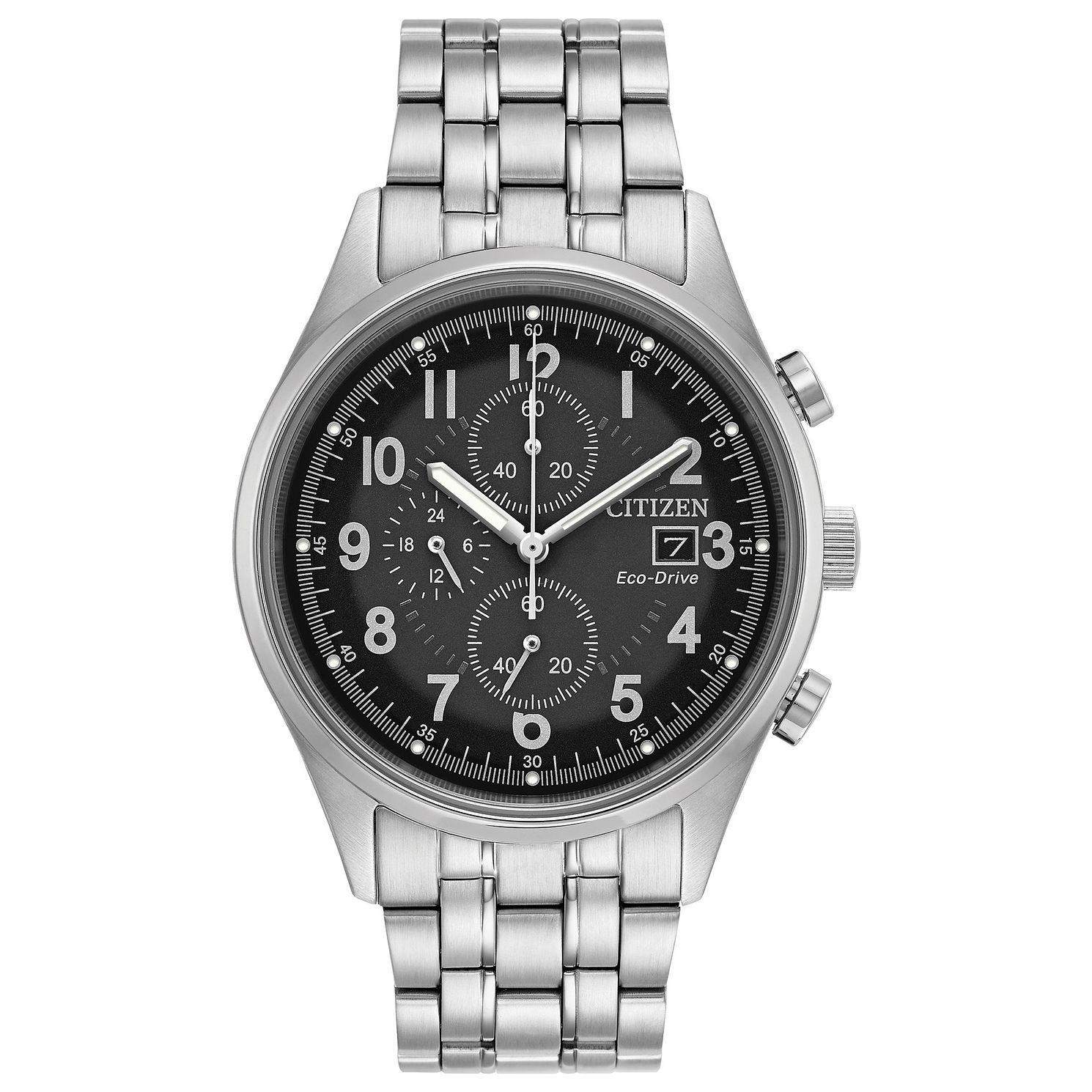 Citizen Men's Eco-Drive Chronograph Black Dial Bracelet Watch, £114.75 at Ernest Jones