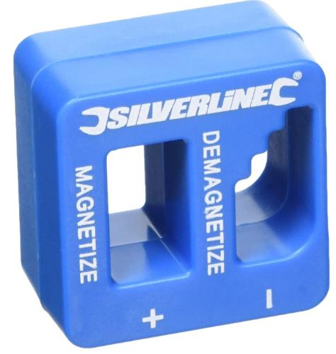 Silverline 245116 Magnetiser Demagnetiser 50 x 50 x 30 mm - £3.54 (Prime) / £8.03 (Non Prime) @ Amazon