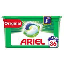 Ariel All In 1 Washing Pods Original 36 Washes - £6 @ Tesco (Min basket £40 + up to £4 delivery)
