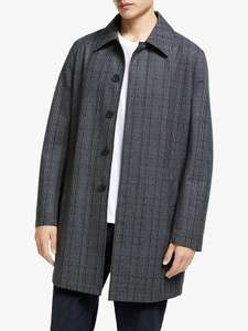 Kin Wool Blend Check Mac Coat, Grey £49.40 delivered @ John Lewis & Partners