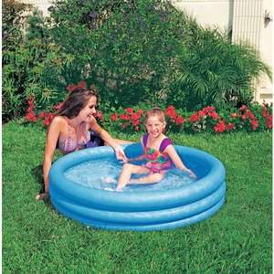 Intex Blue Crystal Paddling pool - £4.99 Click & Collect / Free delivery for account holders @ Smyths