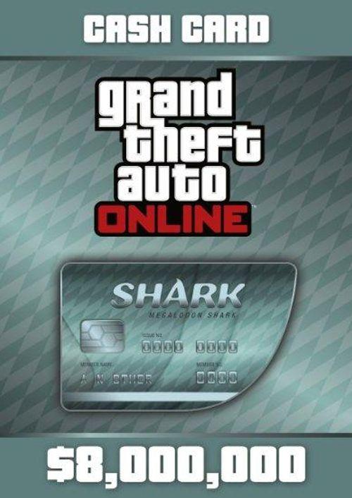 Grand Theft Auto Online (GTA V 5): Megalodon Shark Cash Card 8,000,000 PC at CDKeys for £27.99