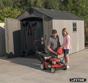 Lifetime 8ft x 12.5ft (2.4 x 3.8m) Simulated Wood Look Storage Shed at Costco for £999.99