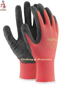 24 PAIRS NEW LATEX COATED WORK GLOVES SAFETY DURABLE GARDEN GRIP BUILDERS (Amazon)