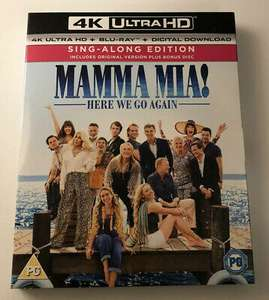 Mamma Mia 4k -Here We Go Again- UHD - Special 3 Disc Bonus Pack Limited Edition £5.50 @ youberdeals91 ebay