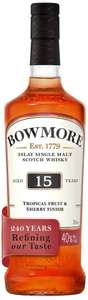 Bowmore 15 Year Old Islay Single Malt Scotch Whisky, 70cl at Amazon for £39.99