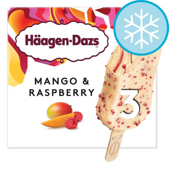 Haagen Dazs Mango & Raspberry / Salted Caramel / Peanut Butter Crunch Ice Cream Stick Bar 3X80ml £2 @ Tesco