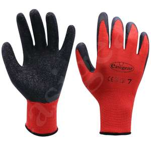 24 Pairs Latex Coated Work Gloves Safety Grip Gardening Builders Construction at ebay / Easigear for £12.99 delivered