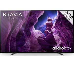 Sony Bravia KD55A8 (2020) OLED HDR 4K Ultra HD Smart Android TV, 55 inch with Freeview HD, Youview, Dolby Atmos - £1619.10 @ Currys PC World