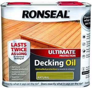 Ronseal Ultimate Protection Decking Oil Natural Cedar 2.5L £12.75 (Prime) / £17.24 (Non Prime) @ Amazon Warehouse