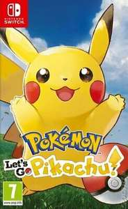 Pokémon: Let's Go, Picachu for Switch - 'Very Good- USED' £25.81 With Code @ musicmagpie /eBay