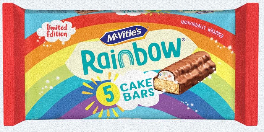 McVities Rainbow Cake Bars 5 pack 59p @ Heron Foods Corby