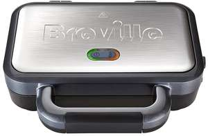 Breville Deep Fill Sandwich Toaster and Toastie Maker with Removable Plates, Non-Stick, Stainless Steel - £24.99 delivered @ Amazon