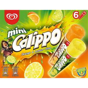 Mini Calippo Orange & Lemon-Lime Ice Lollies 6 x 80 ml £1.50 @ Iceland (Min order + £2 delivery)