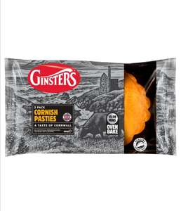 Ginsters Cornish Pasties 2 pack £1 @ Morrisons (Min basket £40 + up to £5 delivery)