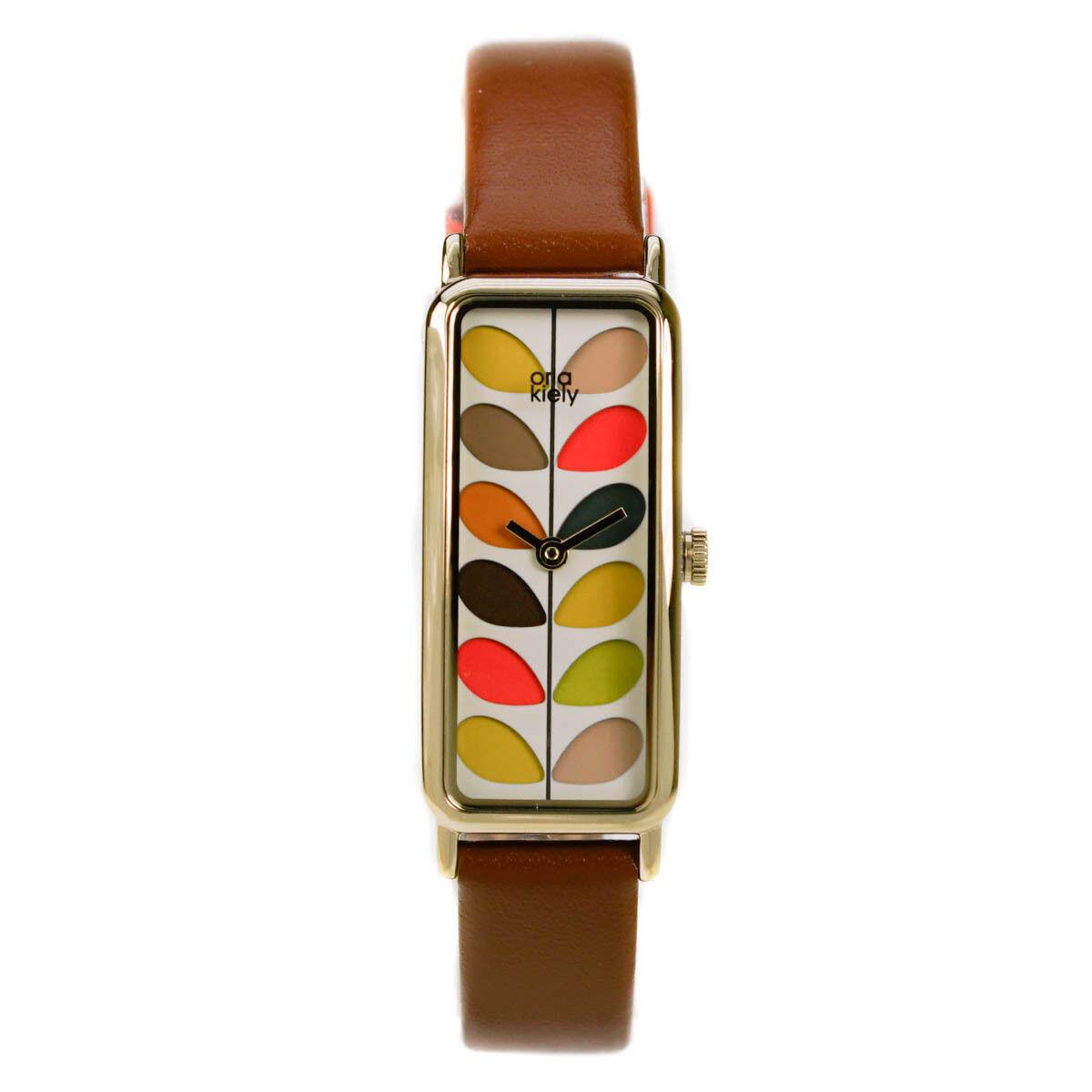 Orla Kiely Ladies Stem Print Watch Tan Leather Strap £19.99 @ hogiesonline / eBay