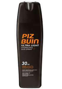 PIZ BUIN In Sun – Ultra Light Hydrating Sun Spray SPF 30 – 200 ml £6.99 (£11.48 Non Prime) @ Amazon