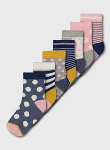 Blue & Pink Spot & Stripe Sock 7 Pack (6 Infant-5.5 Adult) £1.50 + £3.95 del @ Sainsbury's Tu Clothing
