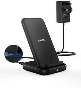 Anker Wireless Charger, PowerWave 10 Stand with 2 USB-A Ports including DC Charger £24.99 Sold by AnkerDirect and Fulfilled by Amazon