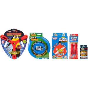 Wicked Vision outdoor activity toy pack (Boomerang, Flying Disc, Skipping Rope, Mega Bounce Ball, and XTR Ball) for £33.98 delivered @ Zavvi