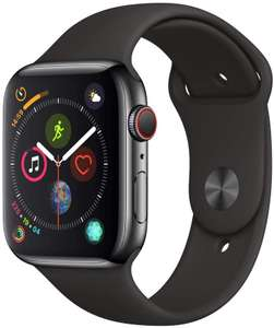Apple Watch Series 4 (GPS + Cellular, 44mm) - Space Black Stainless Steel Case with Black Sport Band £488.74 at Amazon