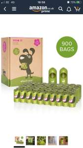 Earth Rated Dog Poo Bags, 900 Extra Thick and Strong Biodegradable Poo Bags for Dogs £27.94 @ Amazon