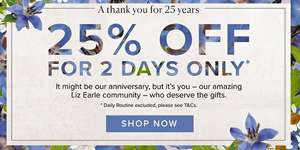 25% off at Liz Earle for 2 days only!