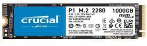 Crucial P1 1TB 3D NAND NVMe PCIe M.2 SSD (2,000 MB/s R, 1700MB/s W) + 5 Yrs Warranty - £99.84 Delivered @ Amazon