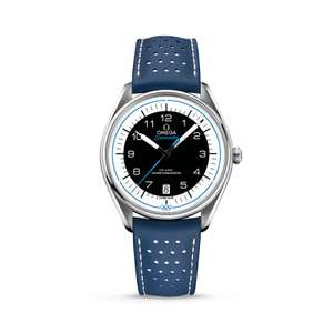 OMEGA Olympic Games Collection Black/Blue Dial & Leather Strap Watch Limited edition £2800 @ Berry's Jewellers