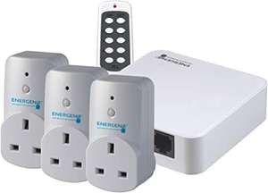 Energenie Alexa-compatible Hub and Smart Plugs 3 Pack £37.29 delivered at Amazon